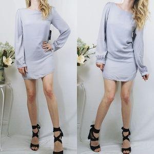 Status Update Light Grey Shift Lulus Dress NWT